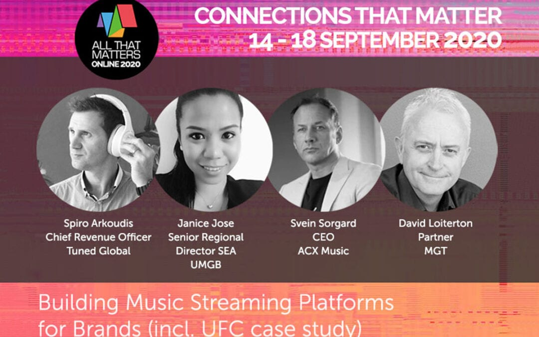 ACX MUSIC JOINS PANEL ON GLOBAL TRADESHOW ALL THAT MATTERS